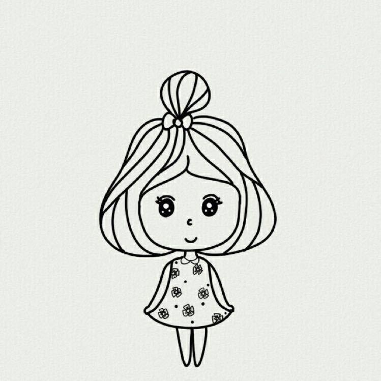 卡通可爱小人简笔画的图片