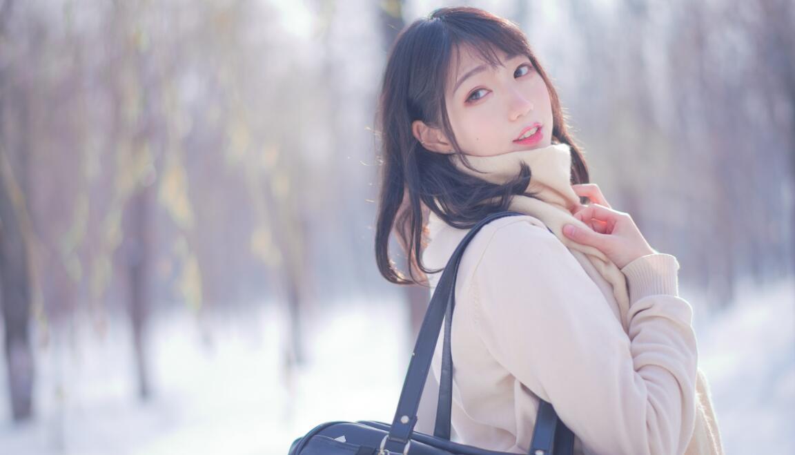 周叽是可爱兔兔 NO.028 雪景jk (2)