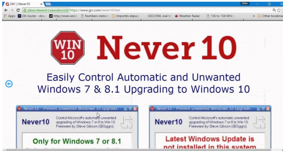 简单禁止Windows强制升级Win10的软件-Never 10
