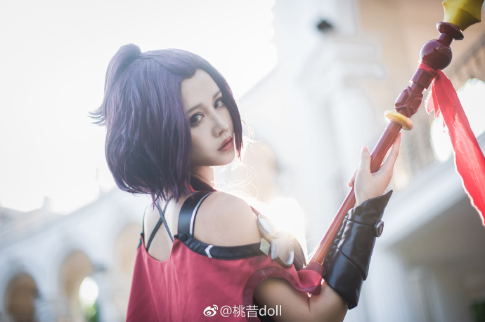 【COS正片】全职高手 唐柔角色卡-战斗法师寒烟柔 cn:桃昔doll cosplay-第8张