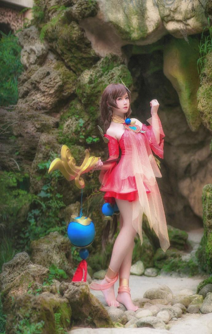 【cos正片】王者荣耀 大乔 守望着天空 大海 和你的回忆 cn:yui金鱼 cosplay-第9张
