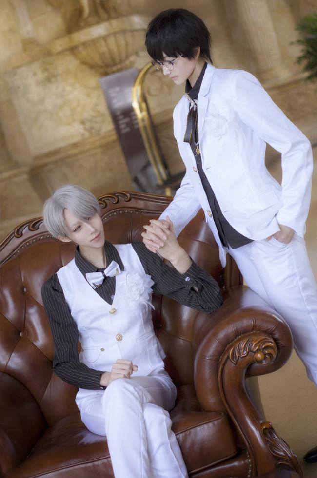 【cos正片】《冰上的尤里》今天你要嫁给我了♡维勇蜜月婚服.avr(误)cn:君子妖Cain cosplay-第1张
