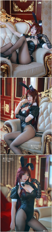 【cos正片】东方project 红美铃 兔女郎 cos欣赏 cn:半半子 cosplay-第8张