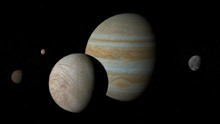 木星的卫星——木卫一、木卫二、木卫三和木卫四