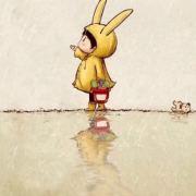 倒立听薛之谦音乐的兔子