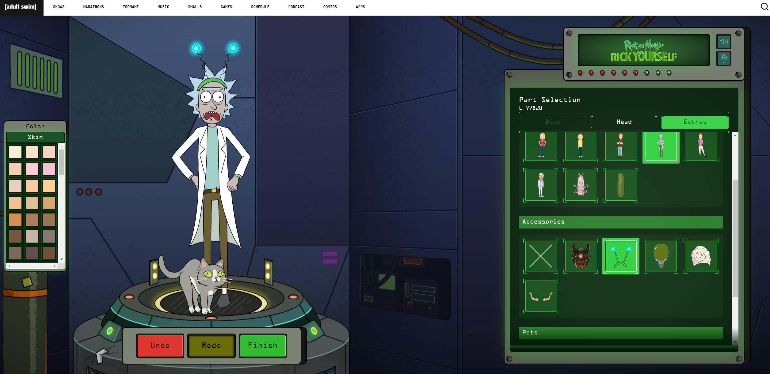 瑞克和莫蒂捏人小游戏(Rick and Morty Avatar Maker)