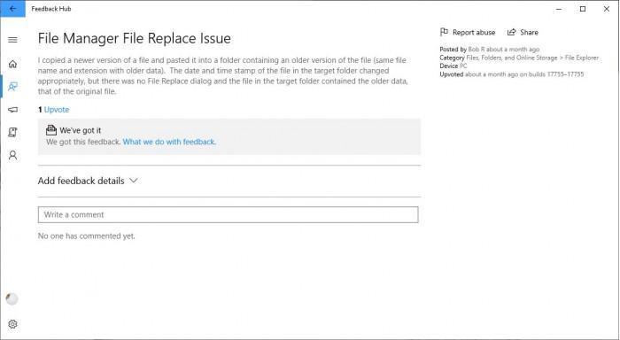 微软解释Win10 v1809文件覆盖Bug:下月发补丁的照片 - 2