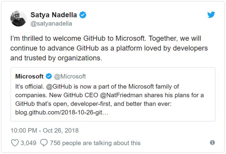 微软宣布完成收购GitHub 周一上任的新CEO有三个目标的照片 - 3