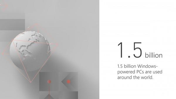 微软的Windows用户数量已经达到15亿的照片
