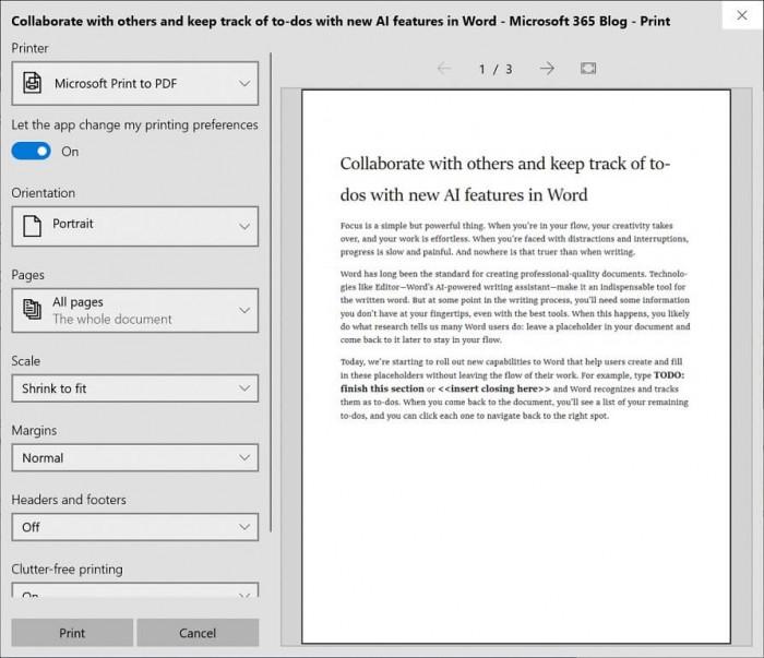 浅析Win10 19H1新版截图工具和打印体验的照片 - 2