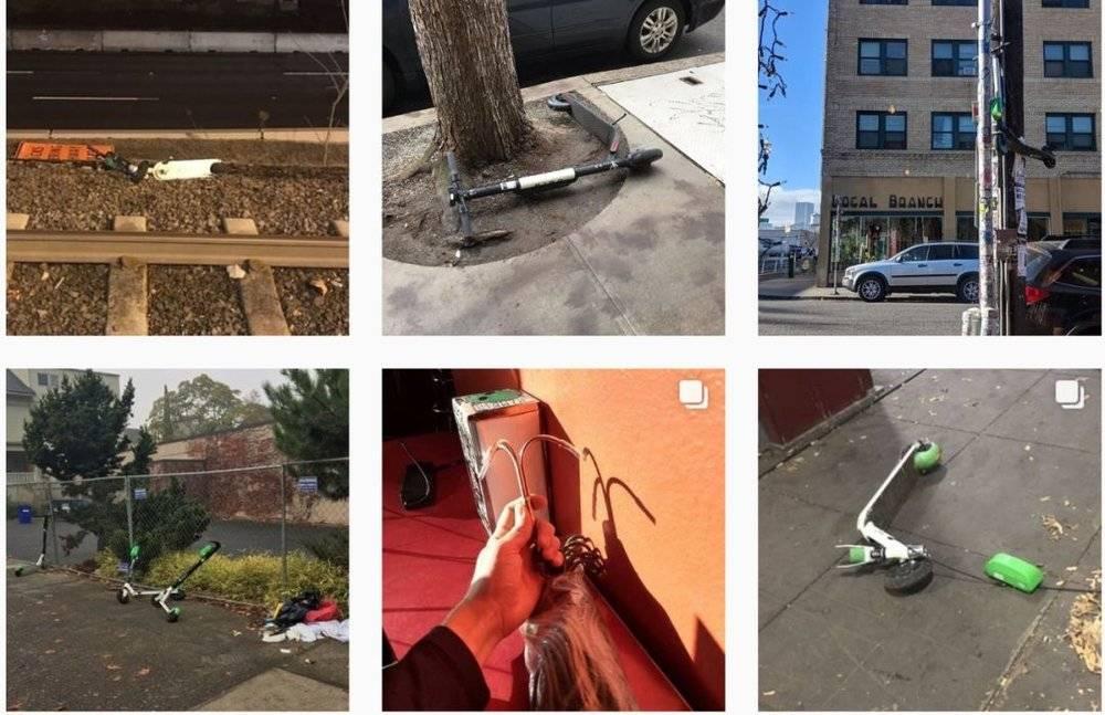 愤怒的美国老铁把共享电动滑板车抛进了大海的照片 - 8