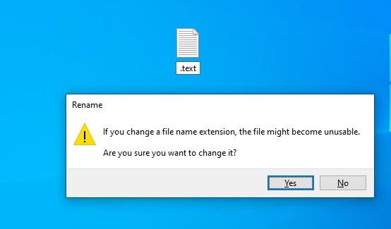 Win10将允许您创建只有扩展名的文件的照片 - 1