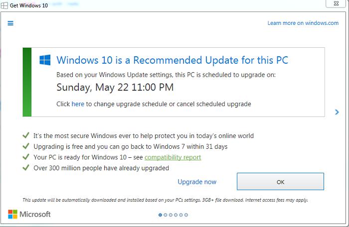 """有观点认为Win7的最后升级提醒弹窗是""""必要的恶""""的照片"""