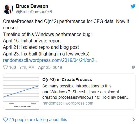 Win10安全功能使得基于Chromium浏览器运行慢了三倍多的照片 - 2