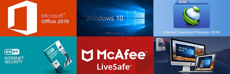 Windows 10   Office 2019   IDM   ESET   迈克菲   苹果虚拟机   正版精品