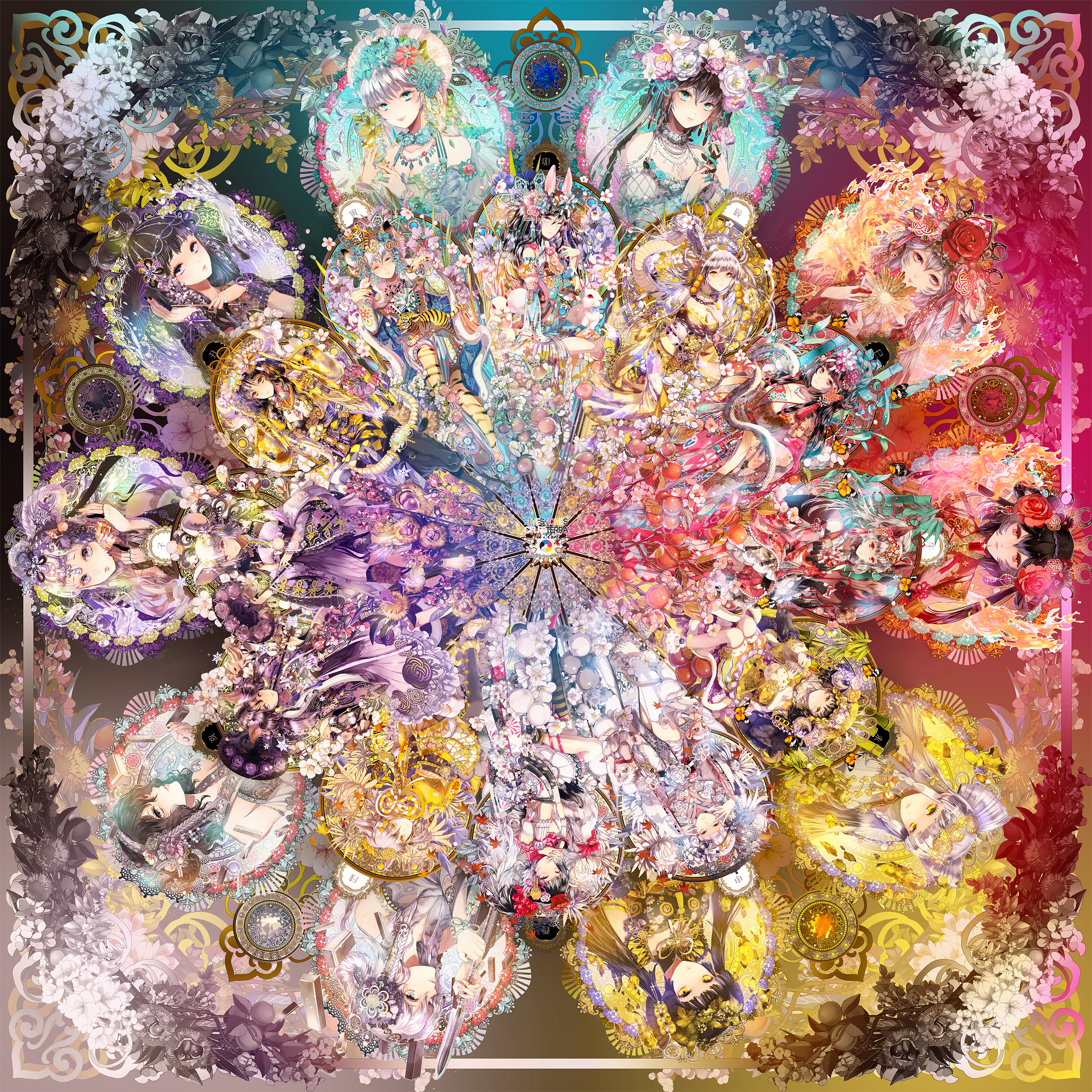 【P站美图】日本神仙画师憂绘制,天干地支拟人图