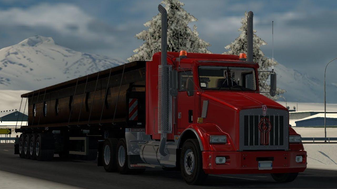 肯沃斯重型卡车报价_美国长头卡车肯沃斯T800 1.33.x - 欧卡2中文网