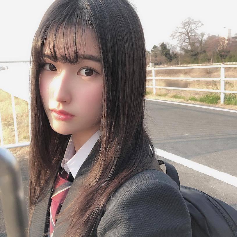 18岁混血制服美少女森嶋あんり已是写真偶像 美女写真 热图6