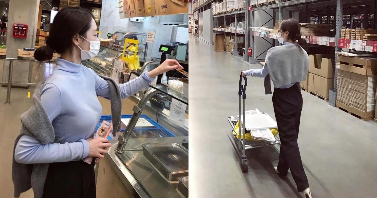 【捕鱼王】IKEA美食区正妹「养眼好显眼」,「逛街的性感背影」!