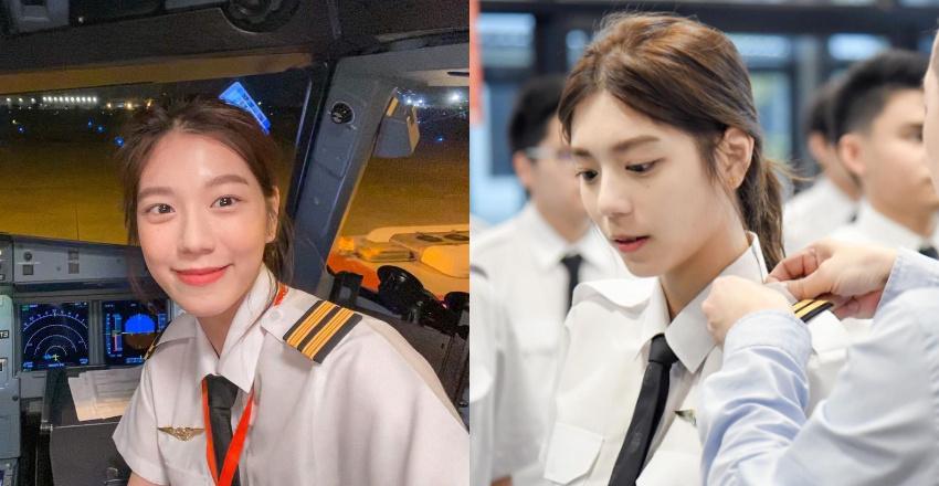 没开玩笑!超甜「正妹机师」美貌称霸航空界网友:想跟她一起飞