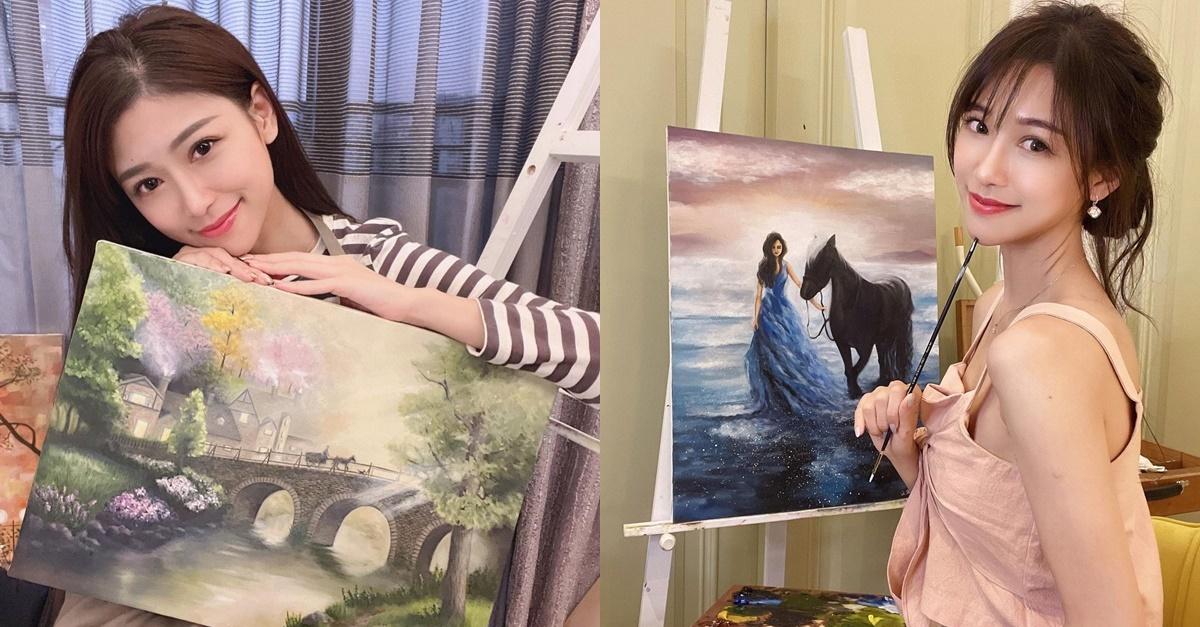 神级达人!甜美正妹「杜衫杉」兴趣是画油画,职业级作画宛如仙女!