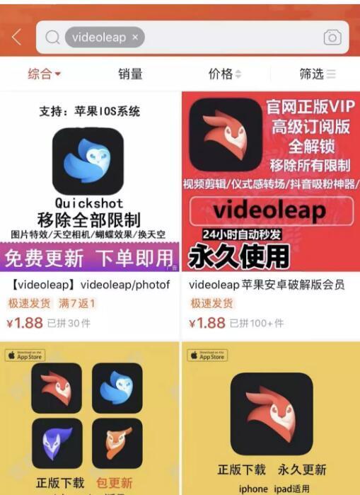 互联网项目videoleap的图片 第3张