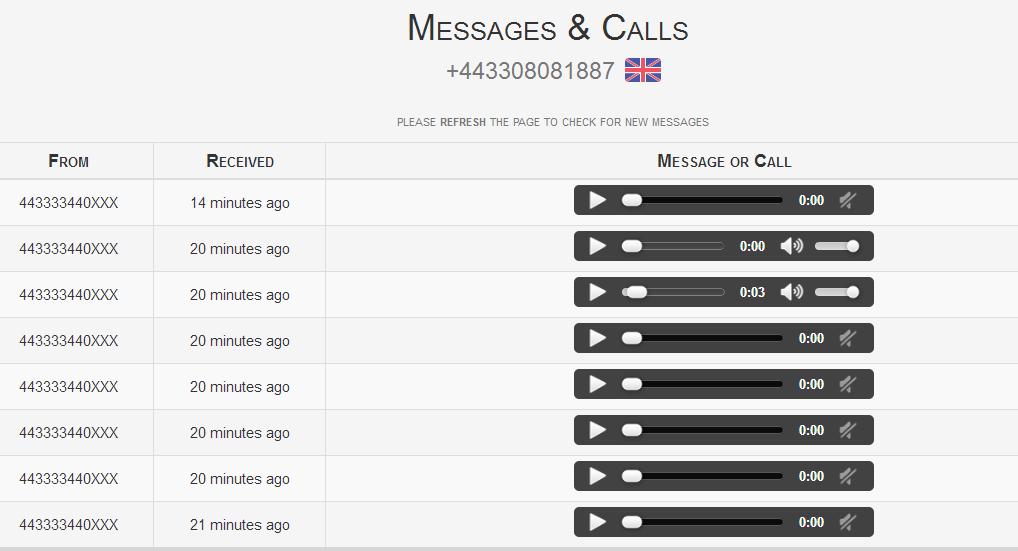 酷站  免费接收美国/加拿大/英国短信的网站