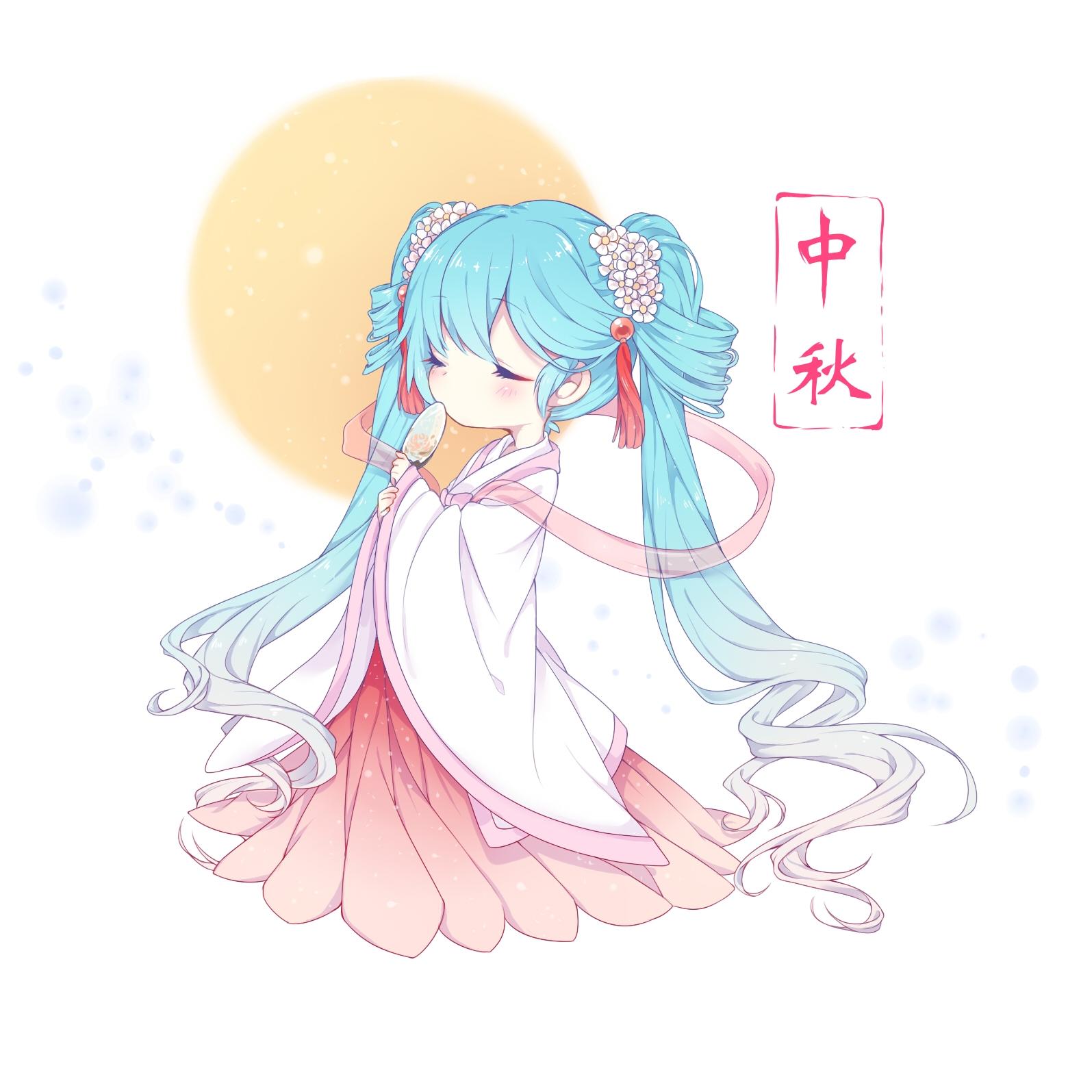 【初音未来】中秋节壁纸,公主殿下赛高_图片 No.19