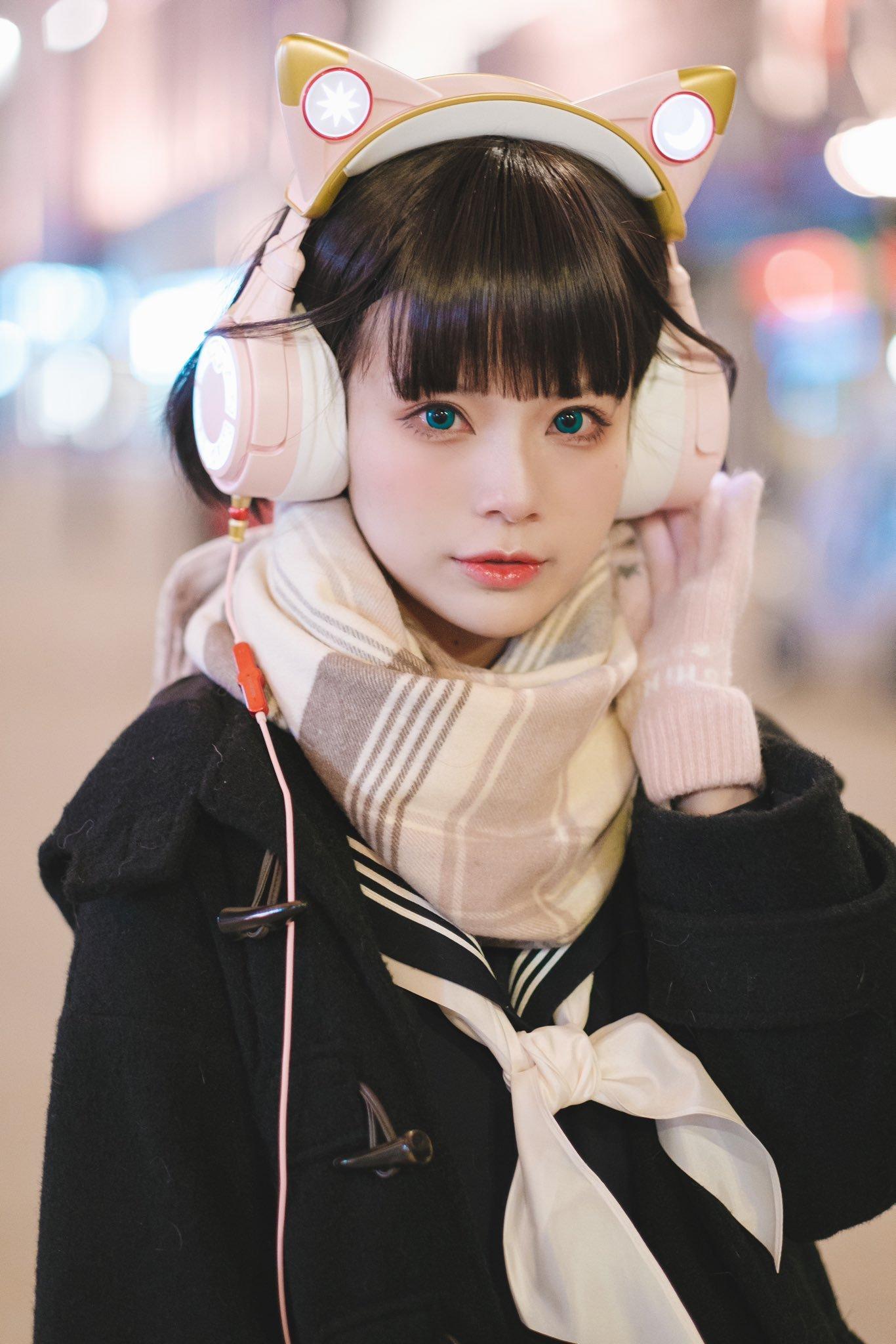 水着金发萝莉 猫耳耳机少女-COS精选二百一十九弹 动漫漫画 第31张
