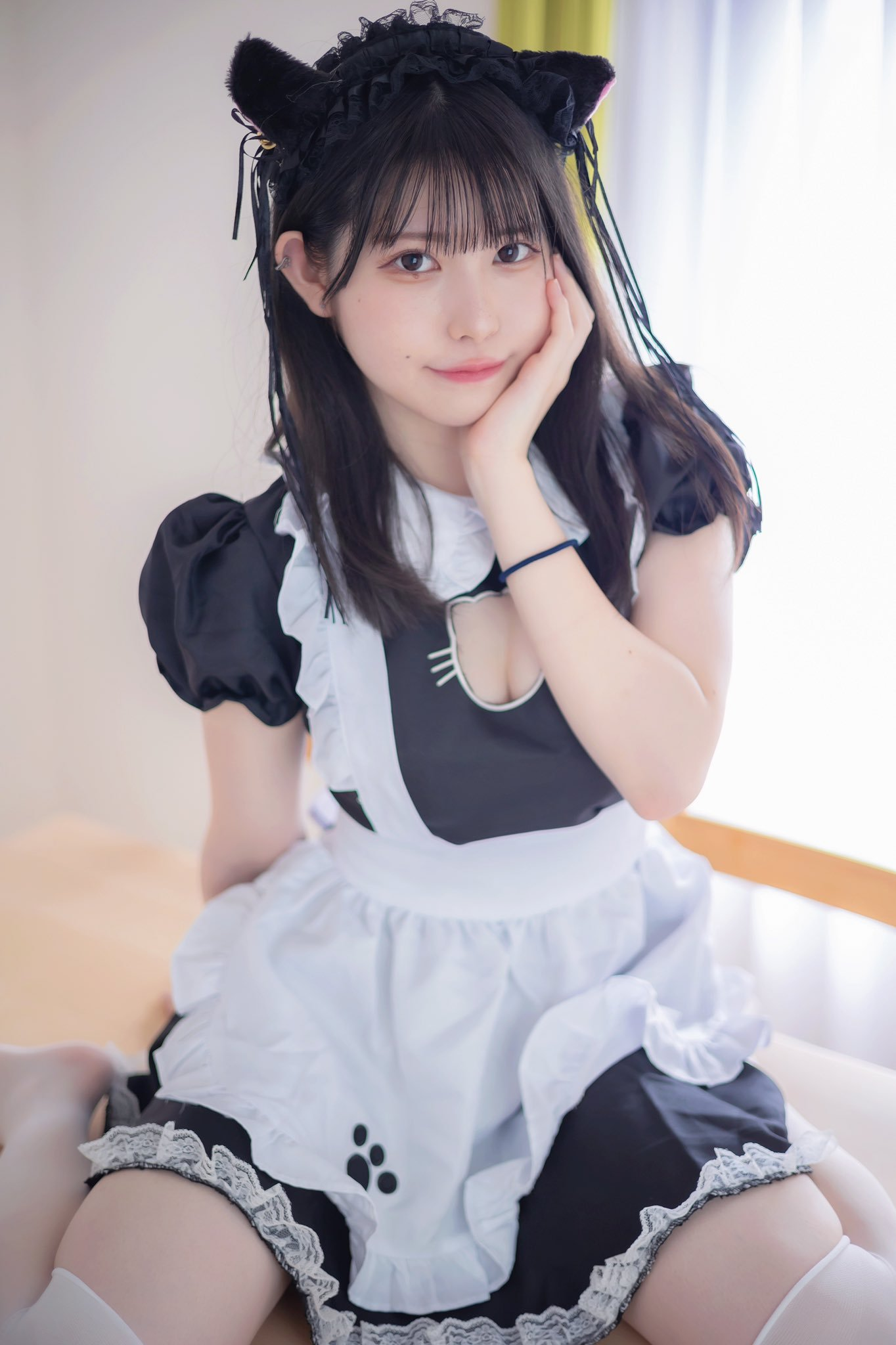猫耳女仆甜到心坎 海边JK夏日感觉-COS精选二百六十弹 动漫漫画 第64张