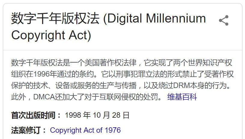 根据谷歌搜索DMCA数字版权信息反查可用电影网站插图