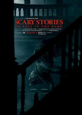 在黑暗中讲述的恐怖故事的海报