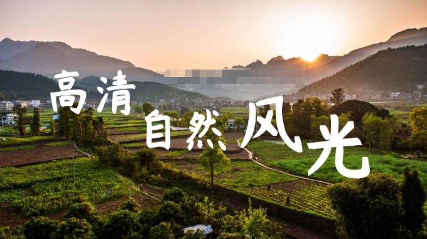 大自然的四季景色高清视频剪辑无字幕素材下载