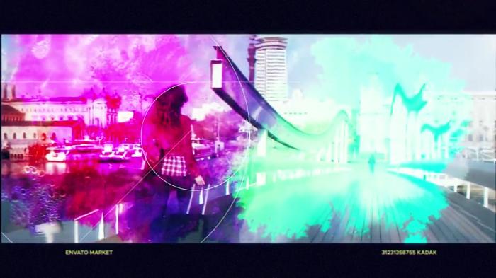 PR炫彩夺目彩色水墨几何元素特效模板下载