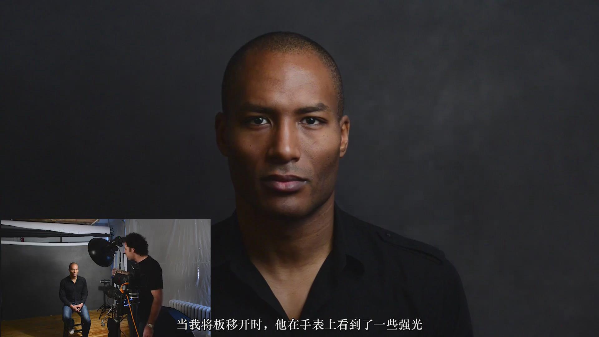 摄影教程_Fstoppers-彼得·赫利(Peter Hurley)完美头像人像面部布光教程-中文字幕 摄影教程 _预览图9