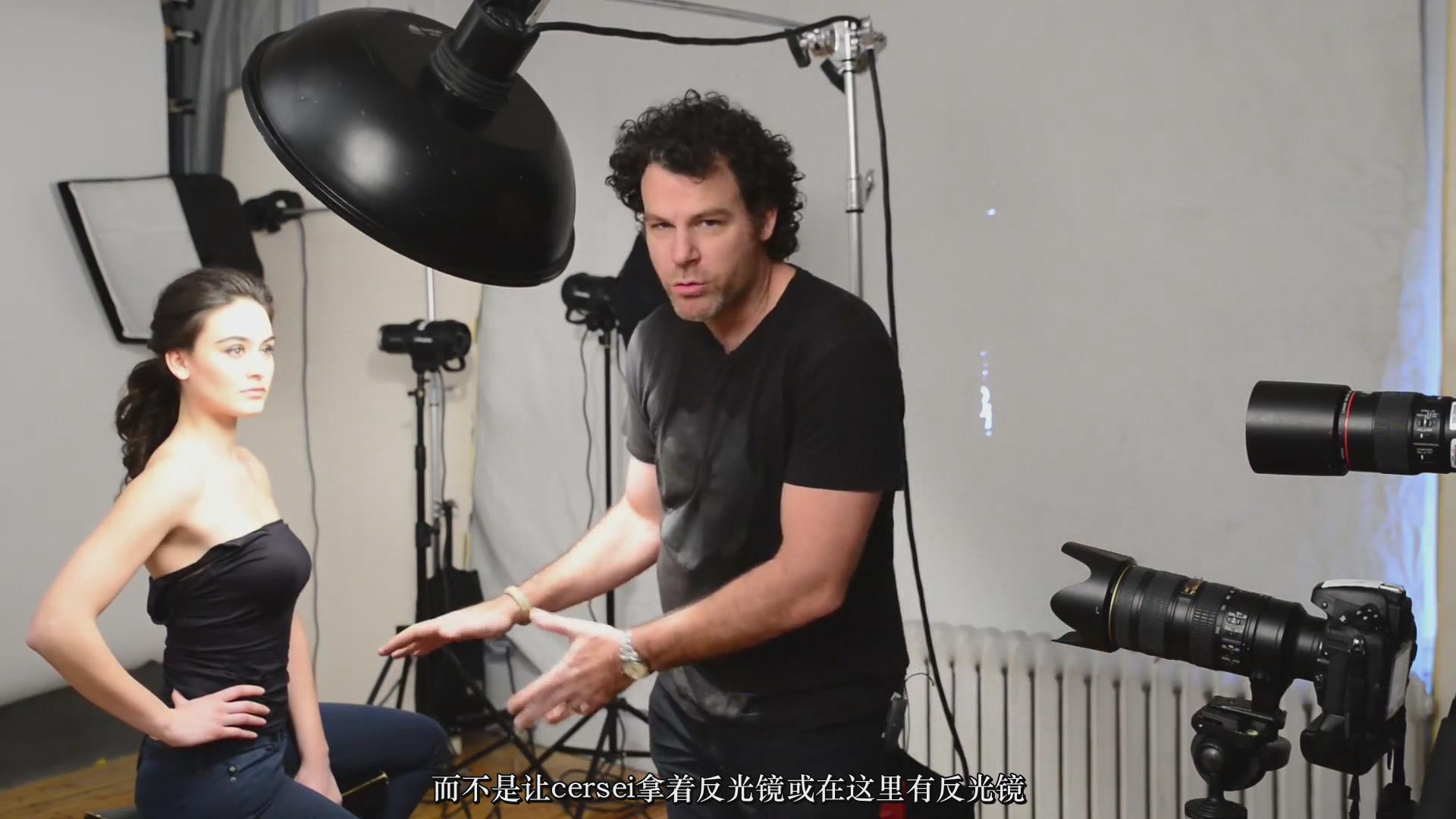 摄影教程_Fstoppers-彼得·赫利(Peter Hurley)完美头像人像面部布光教程-中文字幕 摄影教程 _预览图15