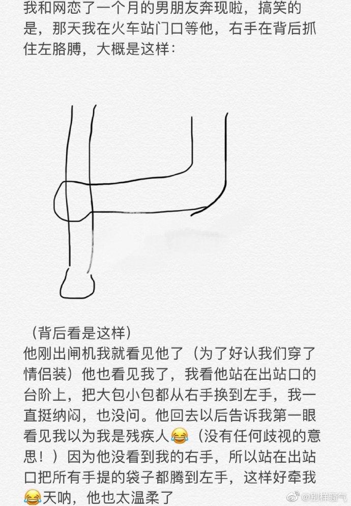 情感语录-投稿 网恋奔现时被男朋友误会....