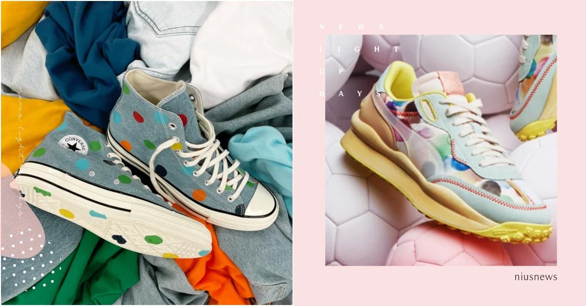 匡威、耐克、彪马超可爱「波点鞋」,为你的秋冬穿搭添点色彩插图