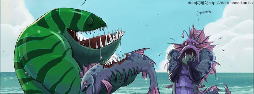 海妖巨怪潮汐吃鱼