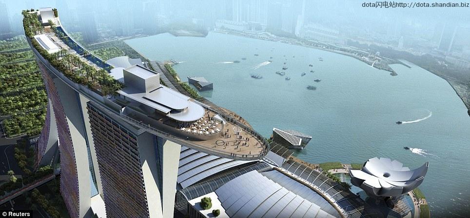 新加坡滨海湾金沙酒店露天泳池