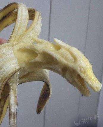 香蕉也能吃出艺术来~