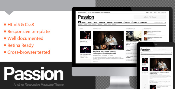 WP主题  【汉化】Passion 杂志 WordPress主题 v2.1.1