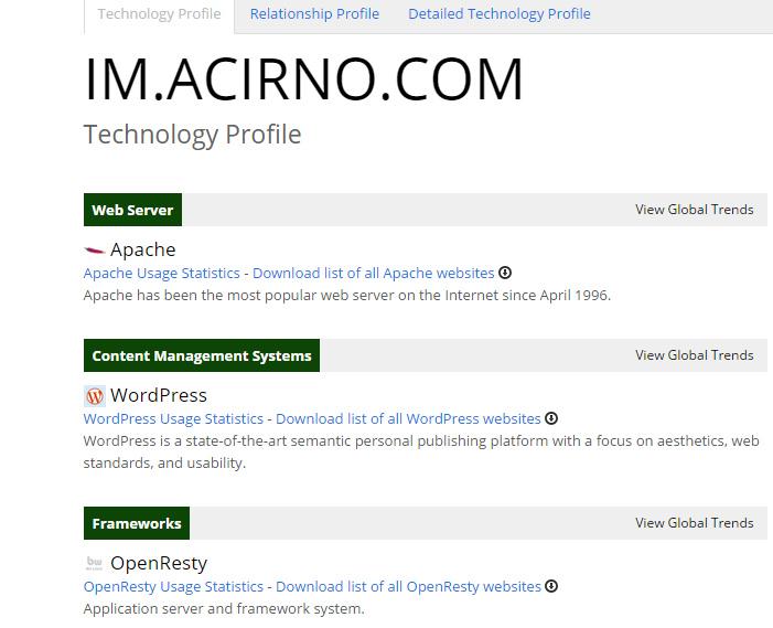 酷站  查看网站架构程序脚本和插件的网站-builtwith