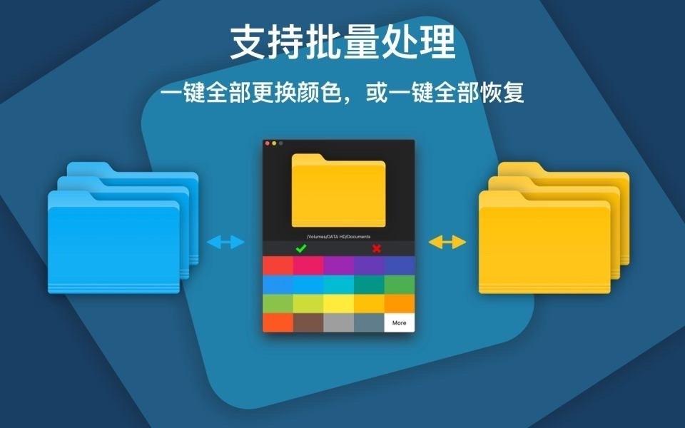ColorFolder 1.0.6中文版 mac改变文件夹的颜色-马克喵