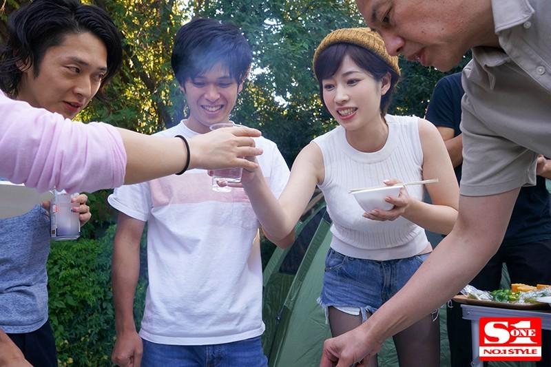 妻子奥田咲露营酒后认错老公被男同事合伙欺负插图(1)