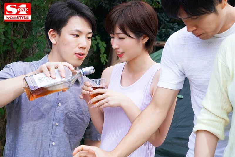 妻子奥田咲露营酒后认错老公被男同事合伙欺负插图(2)