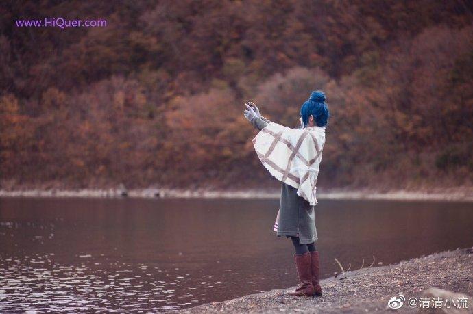 现实也有这么可爱的妹子露营吗,日本女coser《摇曳露营》高还原度野外cosplay 涨姿势 第8张