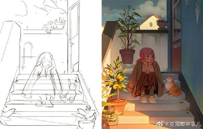画手们晒出的草图 vs 成品,这对比… 太强了!!