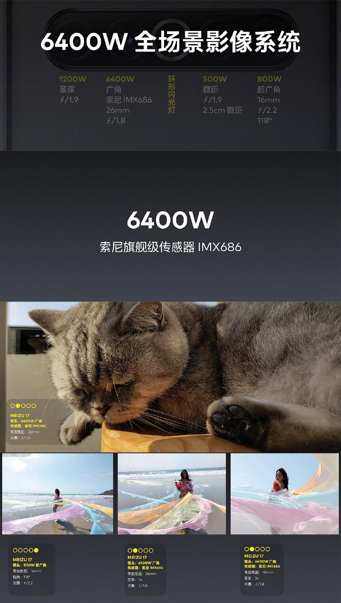 魅族17采用6400万像素横置4摄:环形闪光灯-玩懂手机网 - 玩懂手机第一手的手机资讯网(www.wdshouji.com)