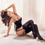 内衣诱惑丝袜美女大胆人体艺术图片
